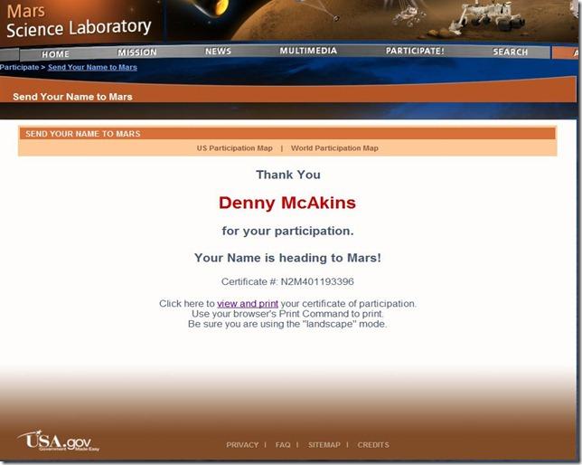 McAkins on Mars