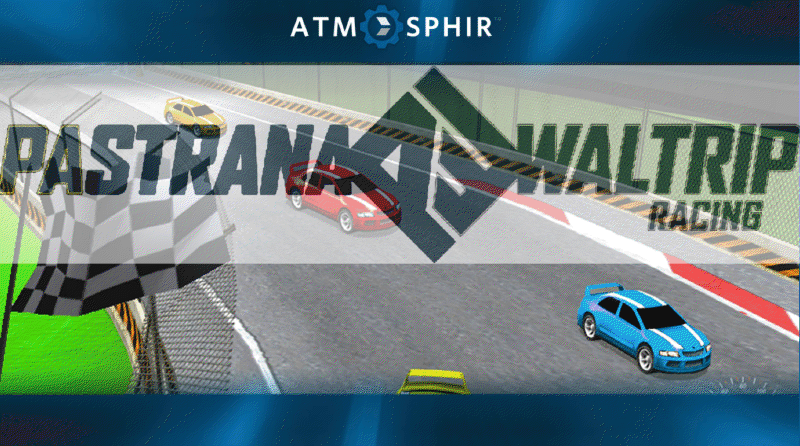"Atmosphir Poster, showcasing the ""Racing Simulator""."