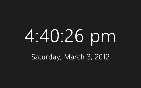 Metro Style Clock