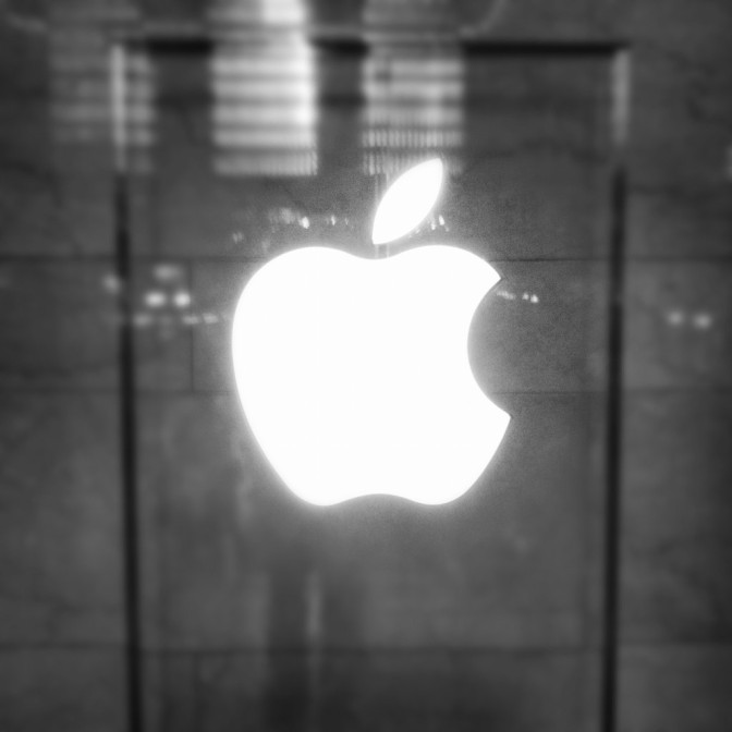 Glowing Grand Central Apple Logo