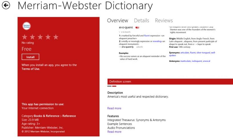 Merriam-Webster Dictionary App