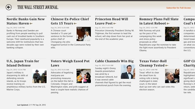 the wall street journal app is now in the store mcakins online
