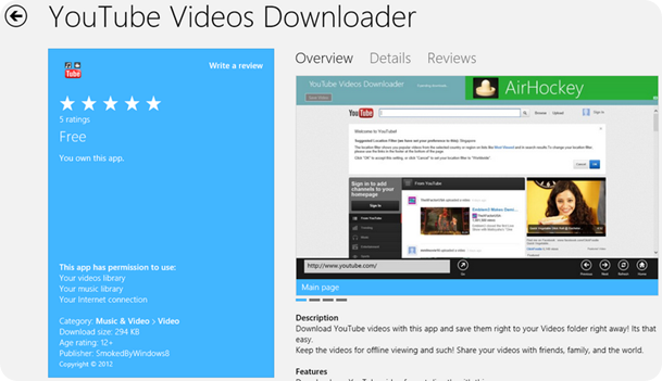 youtube offline app free download for windows 8