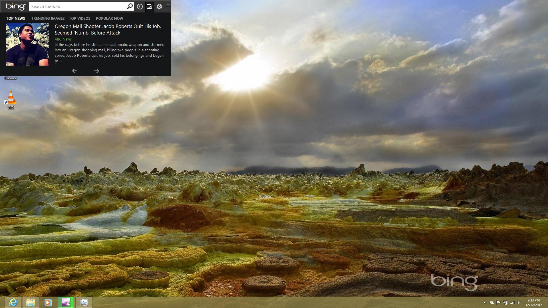 Optional Windows 8 Update Released: Bing Desktop