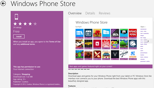 Official Unofficial Windows Phone Store App is here