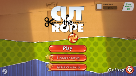 Cut the Rope Main Menu can't connect
