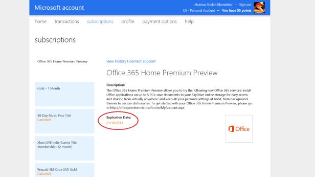 Office 365 expires
