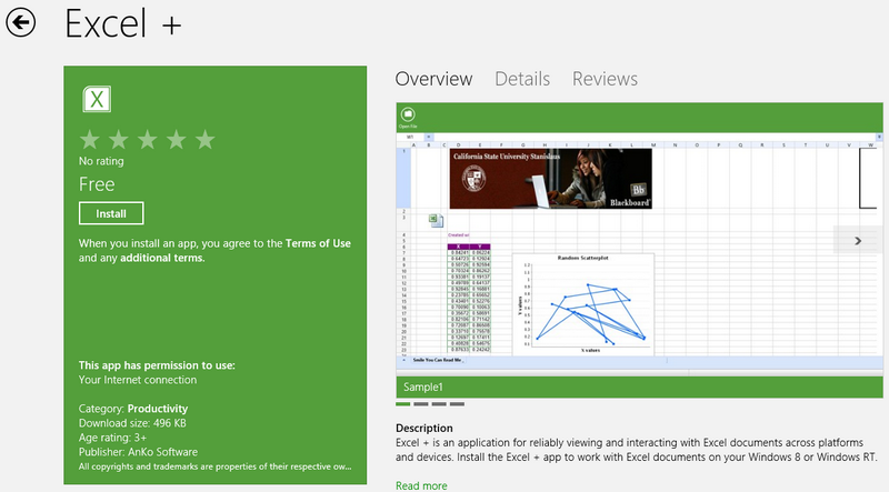Anko hit the Store with an Awesome Excel Viewer! – McAkins Online