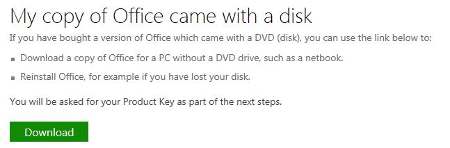 Download Office Link