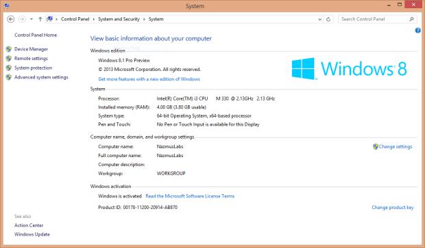 No Windows Experience Index 2