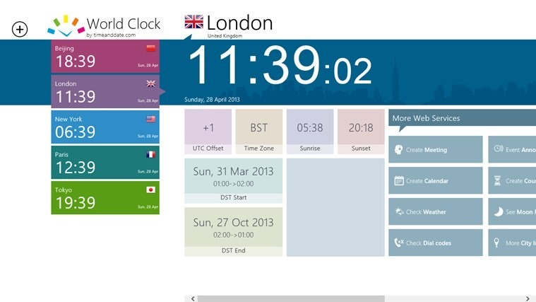 App Highlight: World Clock – Time Zones App from TimeAndDate