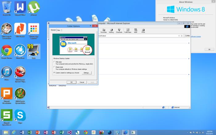 IE4 Folder Options
