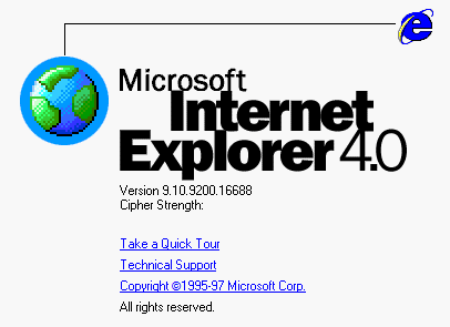 IE4 About Essential