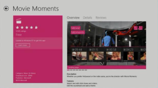 8.1 app on Windows 8