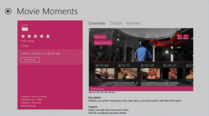 8.1 app on Windows 8