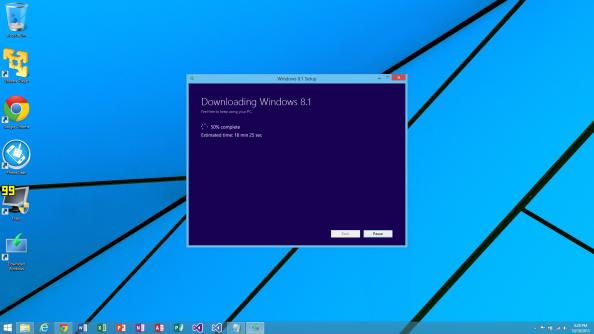 Downloading Windows 8.1 50%