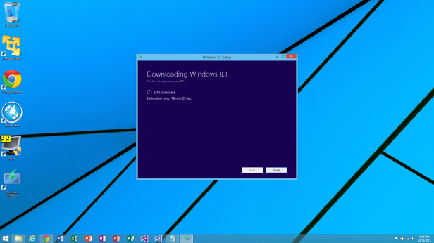 Downloading Windows 8.1 50%