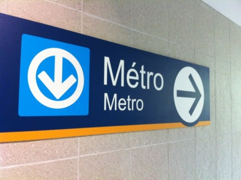 Montreal Metro Sign