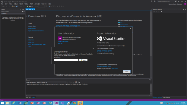 Accuring  and Activating VS 2013 through Dreamspark (4)