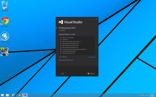 Visual Studio 2013 Install Configurations