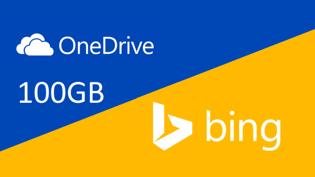 100 GB OneDrive with Bing