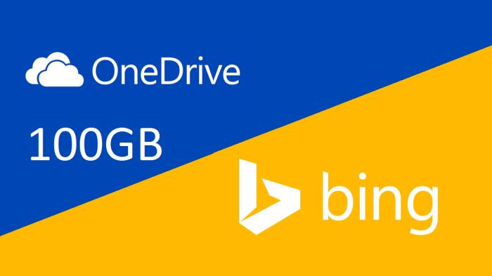 100 GB OneDrive with Bing