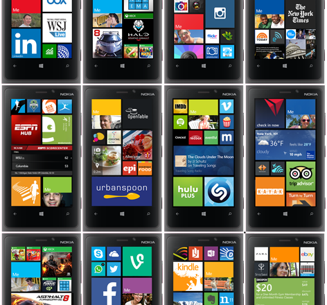 Windows Phones with Tiles