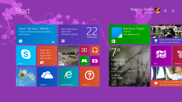 Windows 10 TP Start Screen 9860