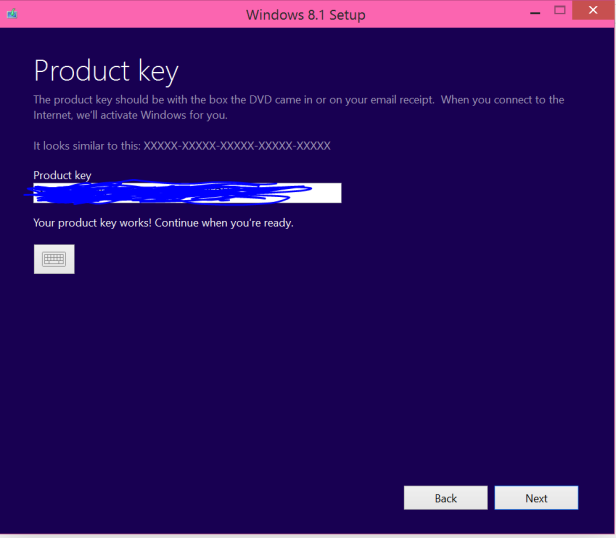 Windows 8.1 Setup Product Key