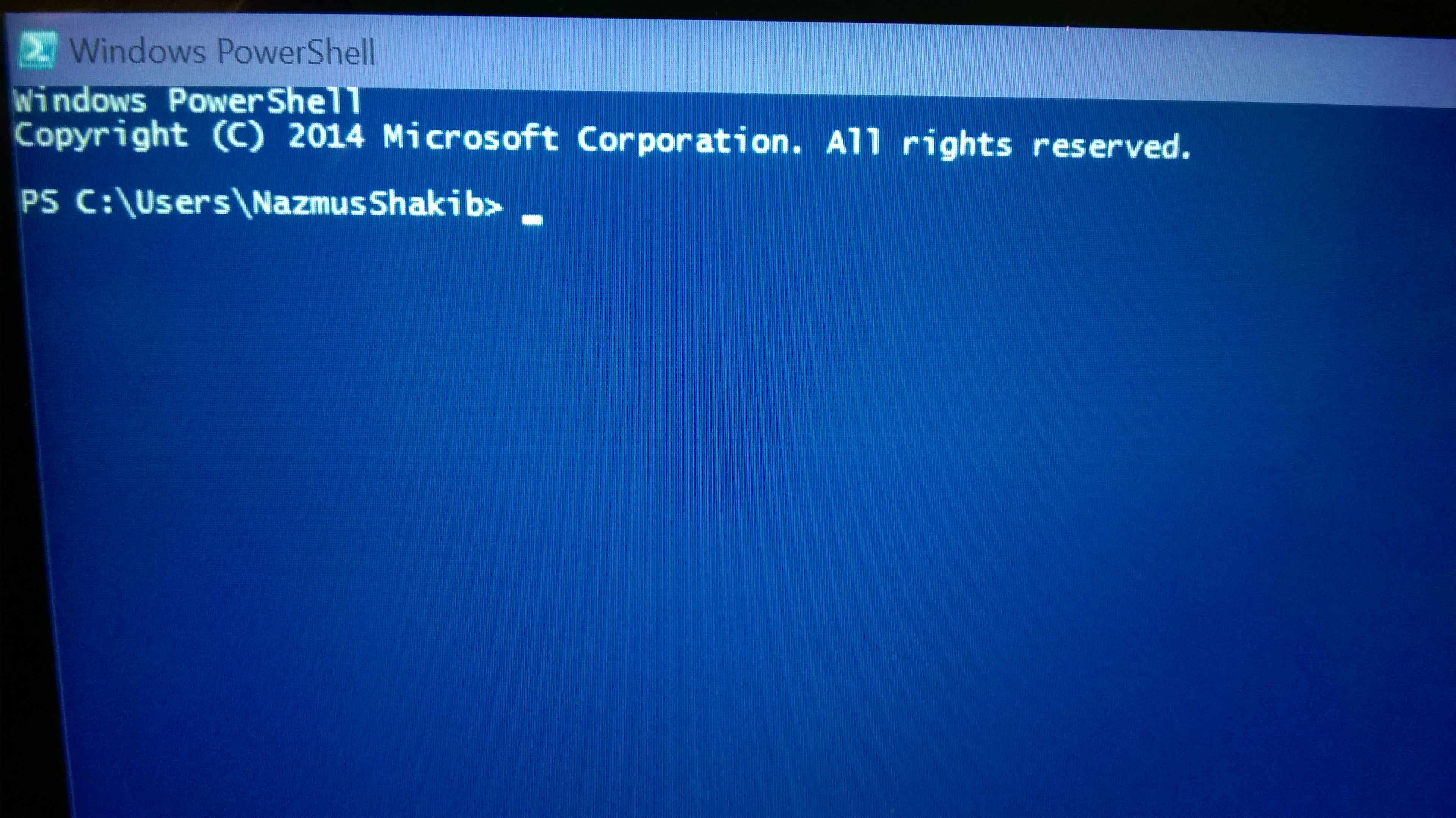 How to go fullscreen in command prompt and powershell for 20 40 window missions