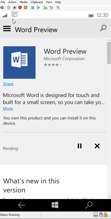 Windows 10 Mobile Store Office Preview Download