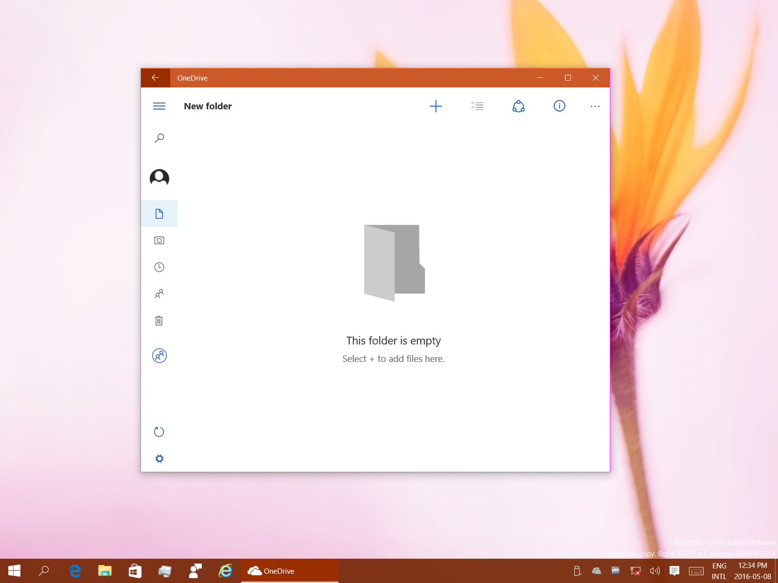 The OneDrive UWP app won't yet be like the Windows 8 1 OneDrive