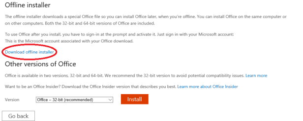 Office 365 Offline Installer