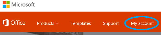Office Website Menu Bar