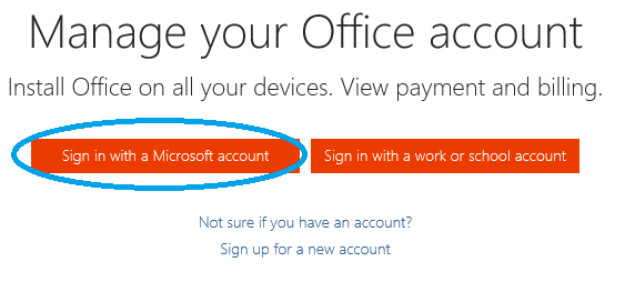 Sign in to Office Online